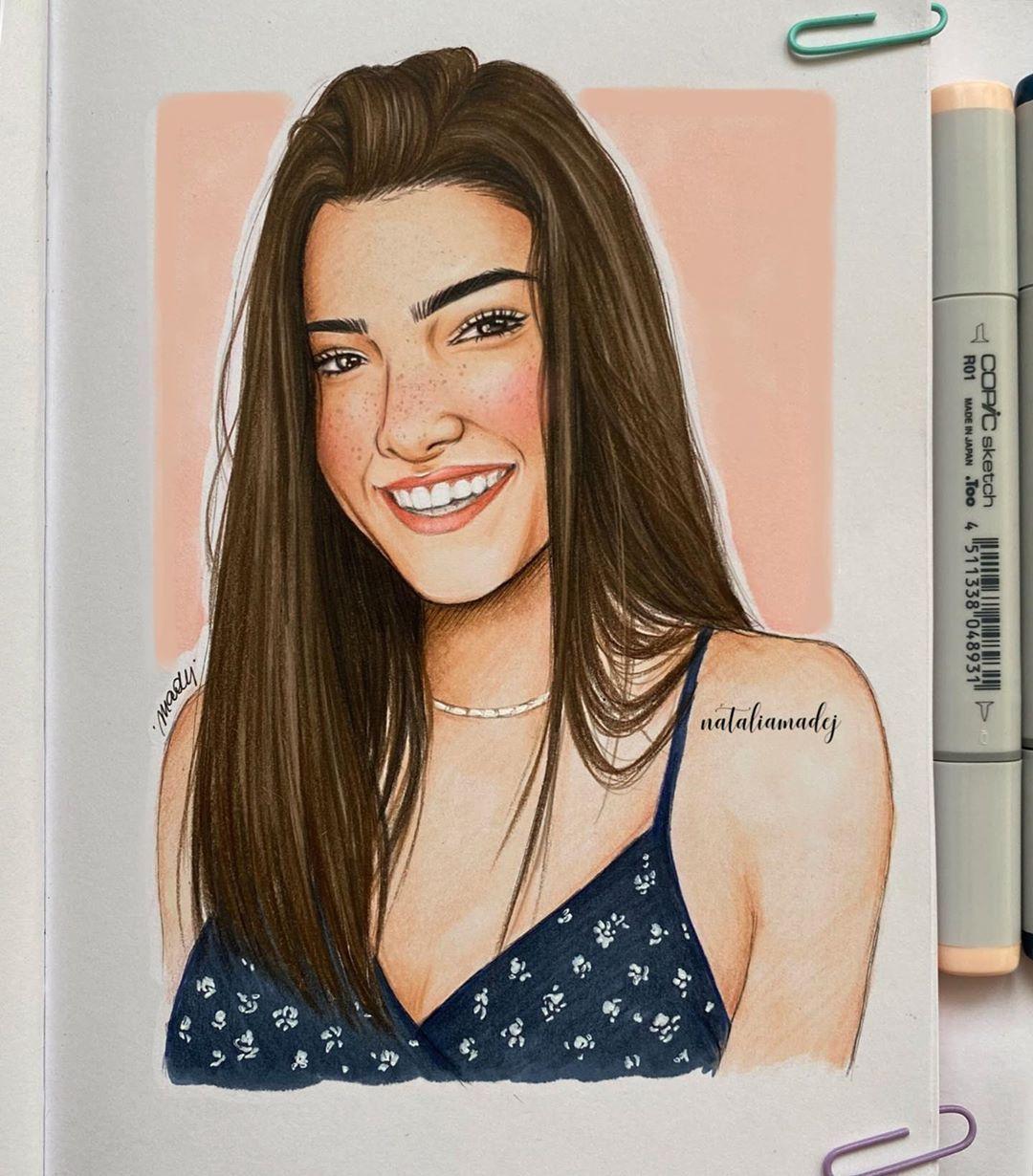 Natalia Madej ✨ sur Instagram : Charli ✨ @charlidamelio #drawing #art  #sketching #sketch #sketchbook #cha… in 2020 | Celebrity drawings, Pencil  art drawings, Girly drawings