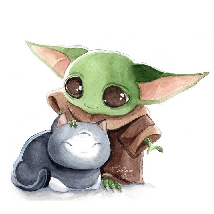 Baby Yoda Fan Art Round Up Mr Jake Parker Yoda Art Star Wars Art Yoda Wallpaper