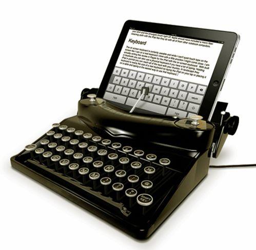 Máquina de escrever para IPad.