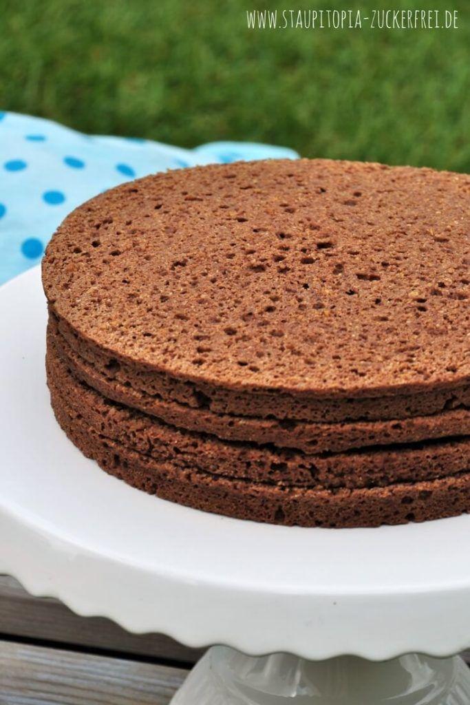 Der schokoladige 5 Minuten Low Carb Tortenboden - Staupitopia Zuckerfrei