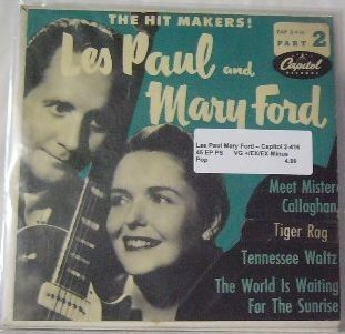 Les Paul & Mary Ford ~ Capitol 2-416 45 EP w/ PS
