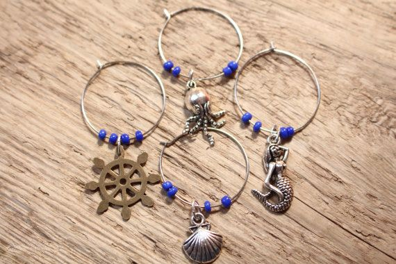 Check out this item in my Etsy shop https://www.etsy.com/listing/231007734/under-the-sea-wine-charms