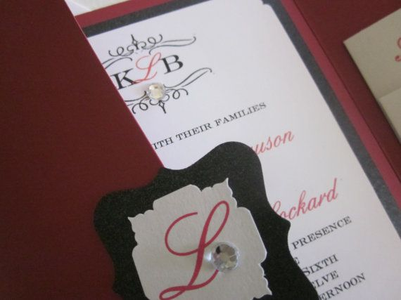 Budget Friendly  Pocketfold Invitation Choice by BellaMEvents, $5.75