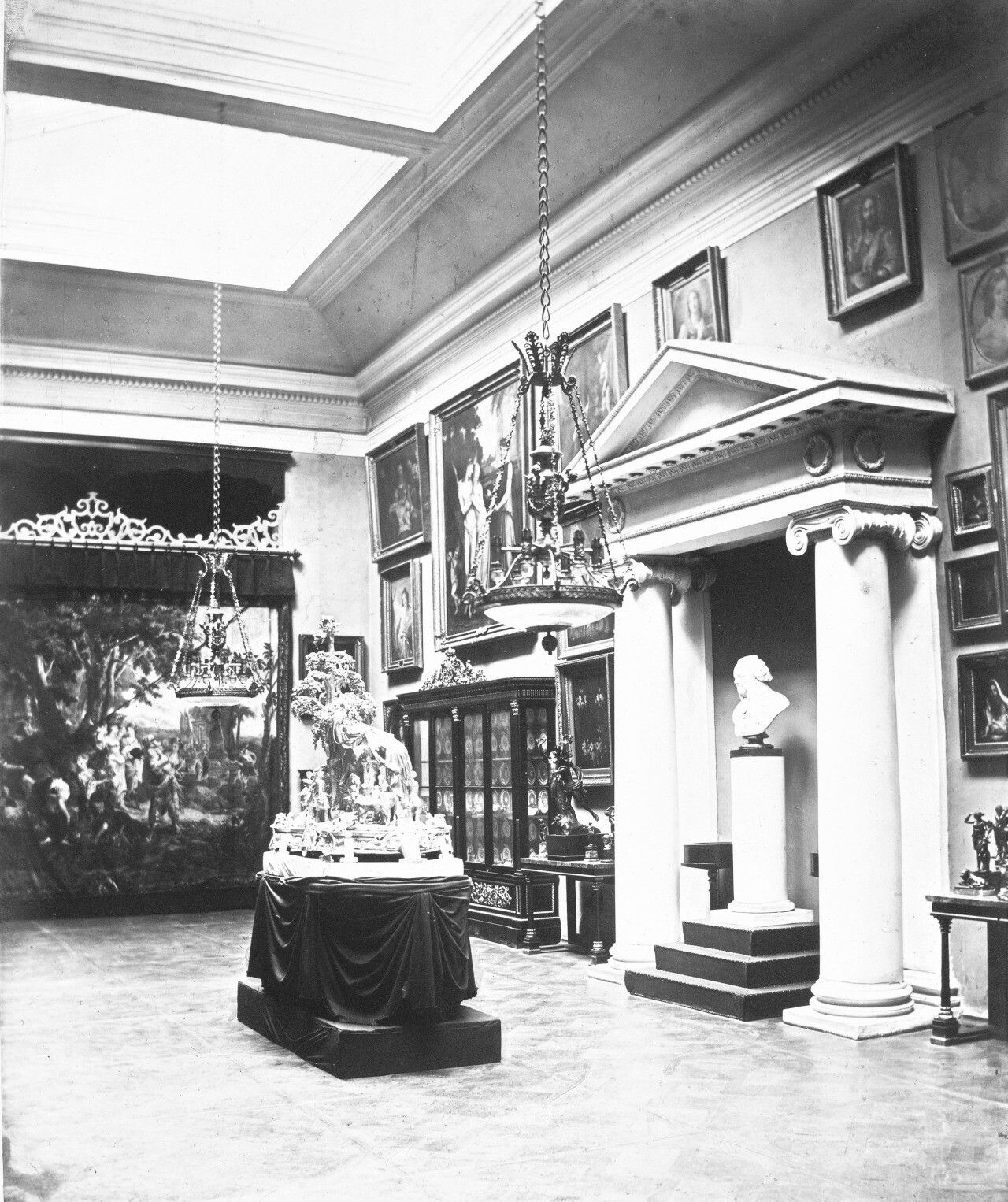 """One of the Art Gallery of the Yusupov Moika Palace in St Petersburg during Imperial Russian times. """"AL"""""""