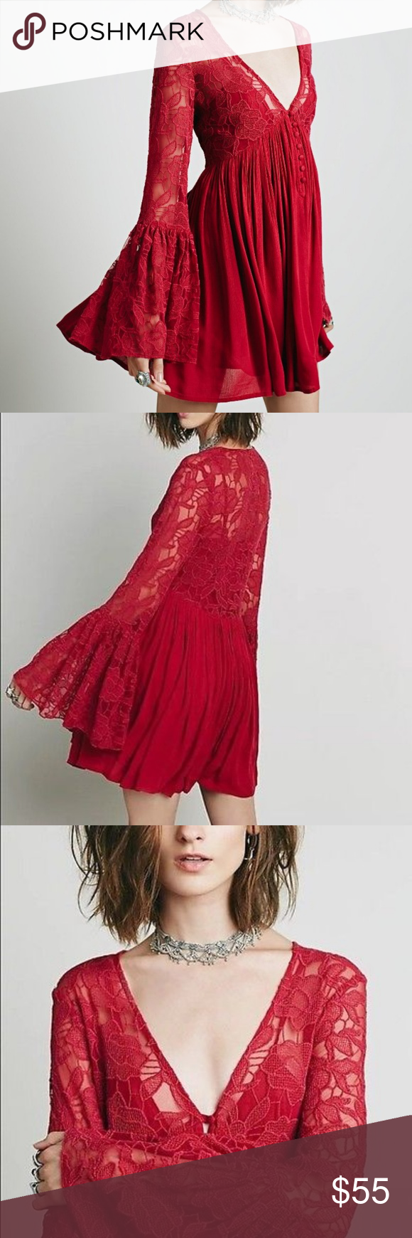 Free People With Love From India Lace Dress Free People