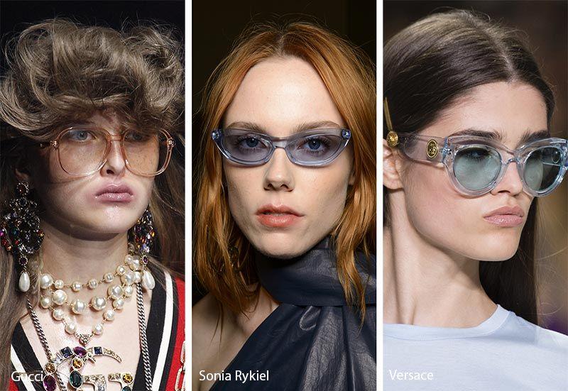 ea04184aa0fc2 Spring  Summer 2018 Sunglasses Trends  Transparent Frames Sunglasses