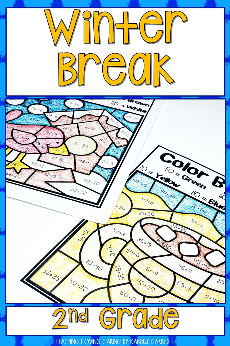 Winter Break Packet Second Grade Second grade, 2nd