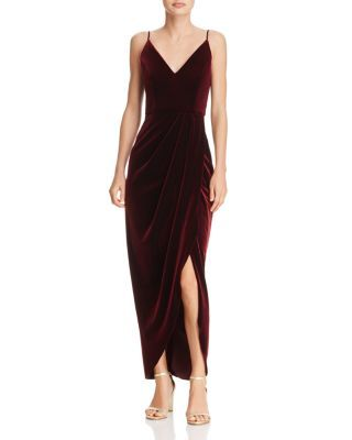 Aqua Velvet Faux Wrap Dress 100 Exclusive Bloomingdale S
