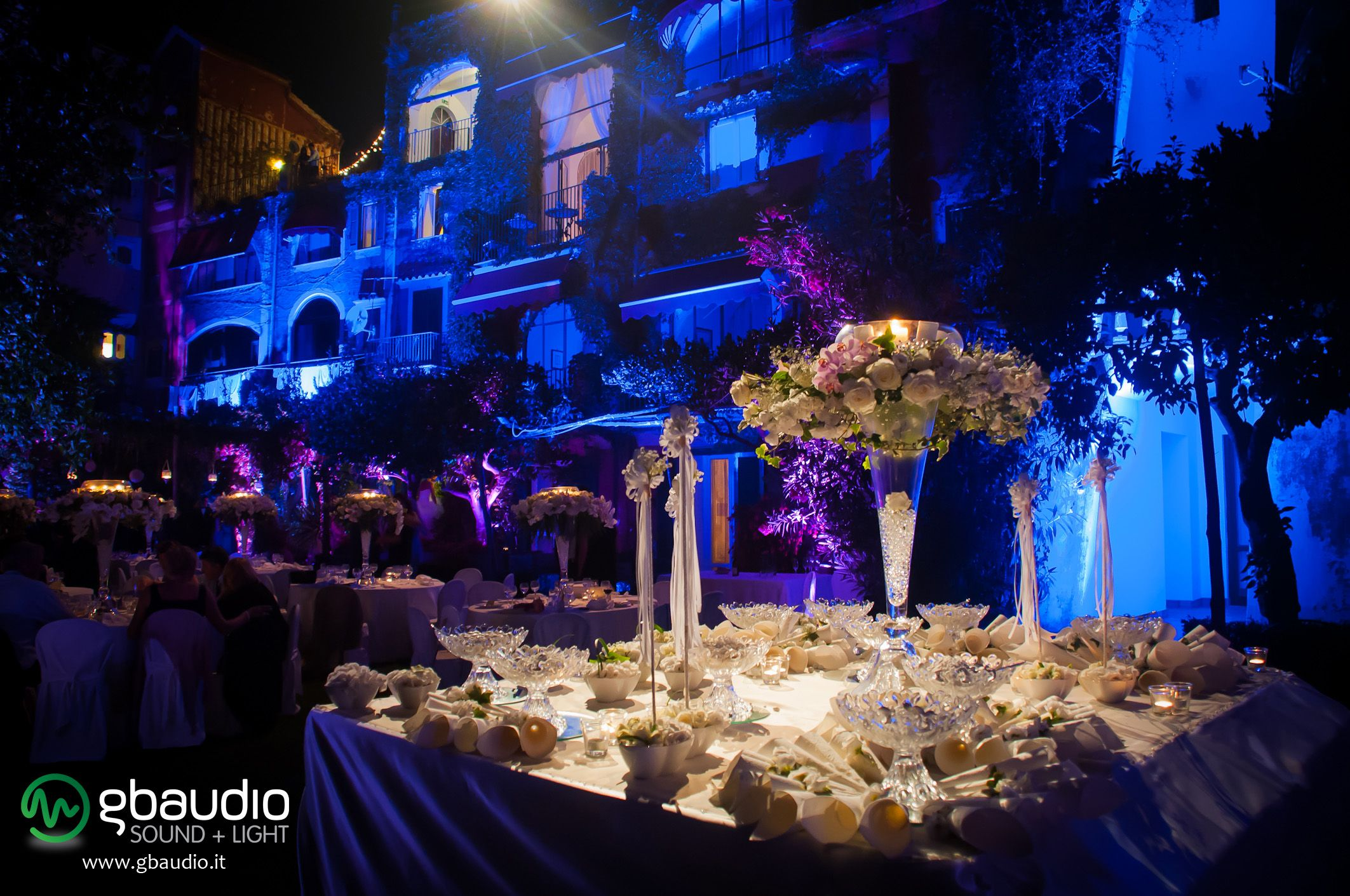 Lighting And Sound For Wedding At Hotel Palumbo Ravello Italy