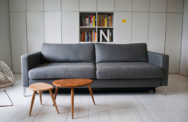 Karlstad Sofa Bed In Zinc Grey Belgian Linen Sent By Nicole And
