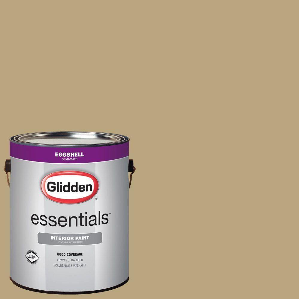 Glidden Essentials 1 gal. #HDGY51D Khaki Sage Eggshell Interior Paint