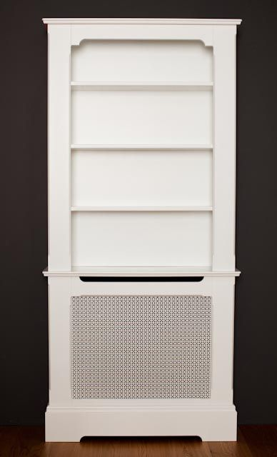 Bespoke Bookcases With Radiator Covers