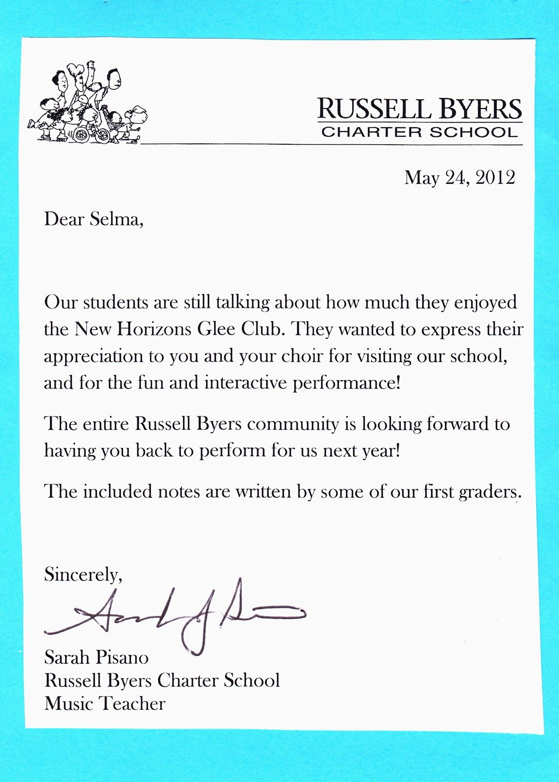 New Horizons Senior Glee Club Kids Stage Music Teacher Sarah