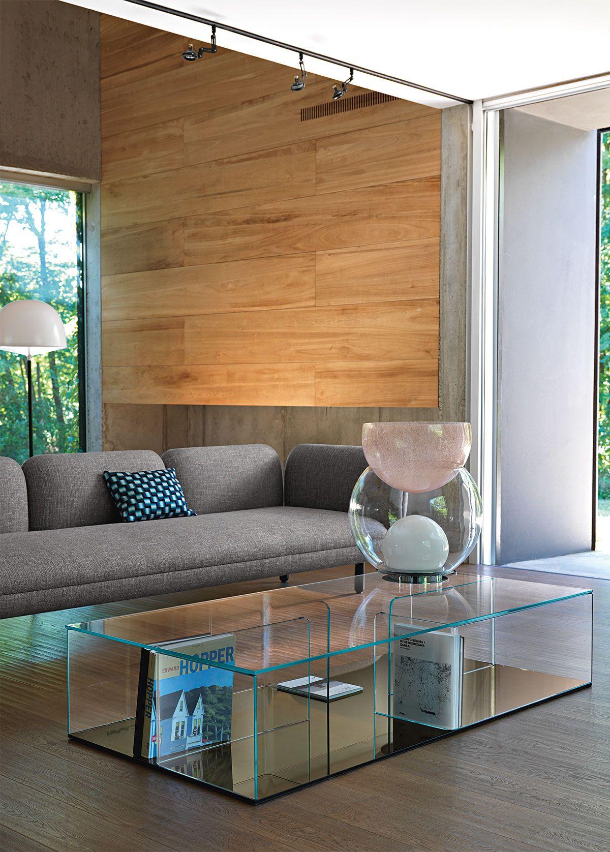 Quadra By Fiam Italia Modern Low Tables Coffee Table Glass Coffee Table Living Room Remodel [ 1676 x 1200 Pixel ]