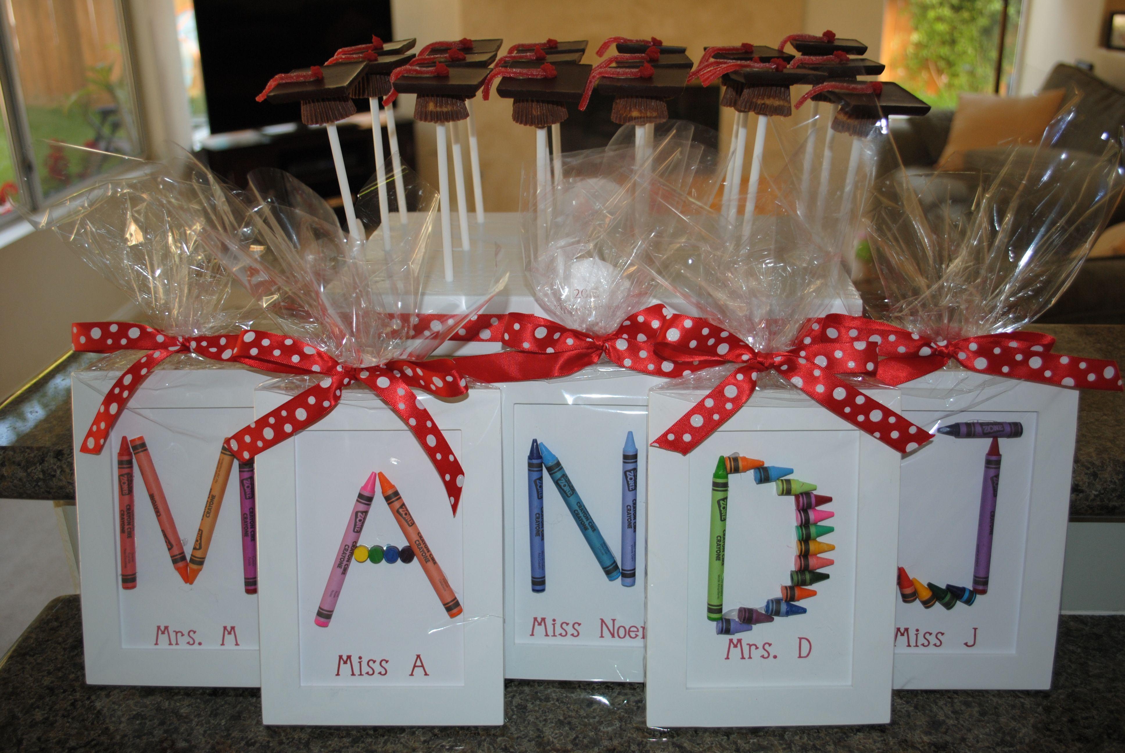 Make For Students Instead Of Teachers Very Cute Preschool Graduation Gifts Teacher Gifts