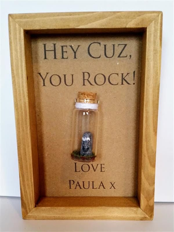 Gift For Cousin Gifts Cousins Birthday Card Cuz You Rock Add Names Or Your Own Message By Undertheblossomtree On Etsy