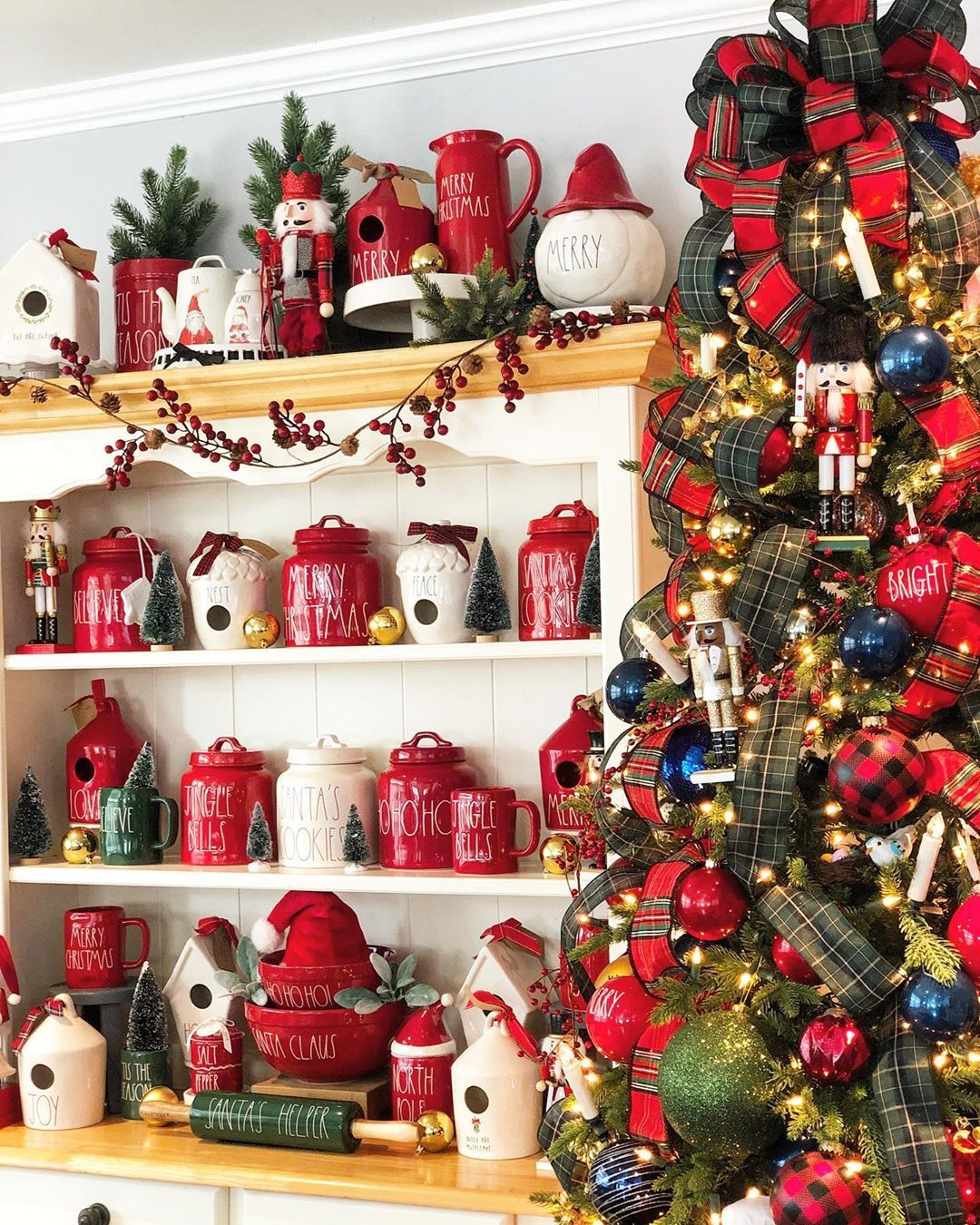 Classic Christmas Decor Achieved After Seeing All The Flocked Christmas Trees B Classic Christmas Decorations Flocked Christmas Trees Christmas Decorations
