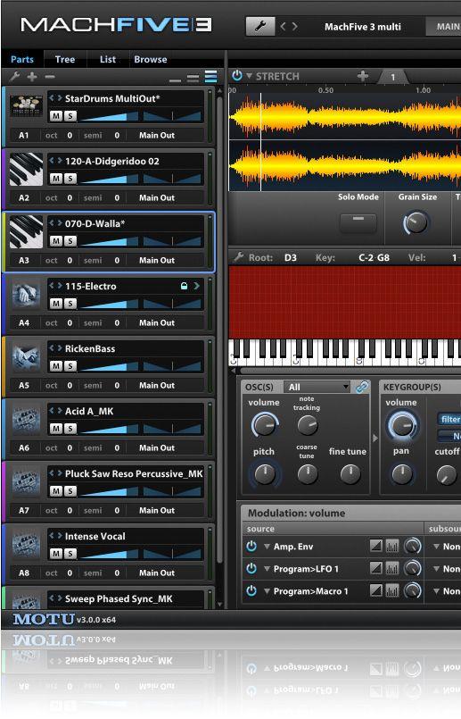MOTU MachFive 3 'Universal' Sampler Software #MOTU