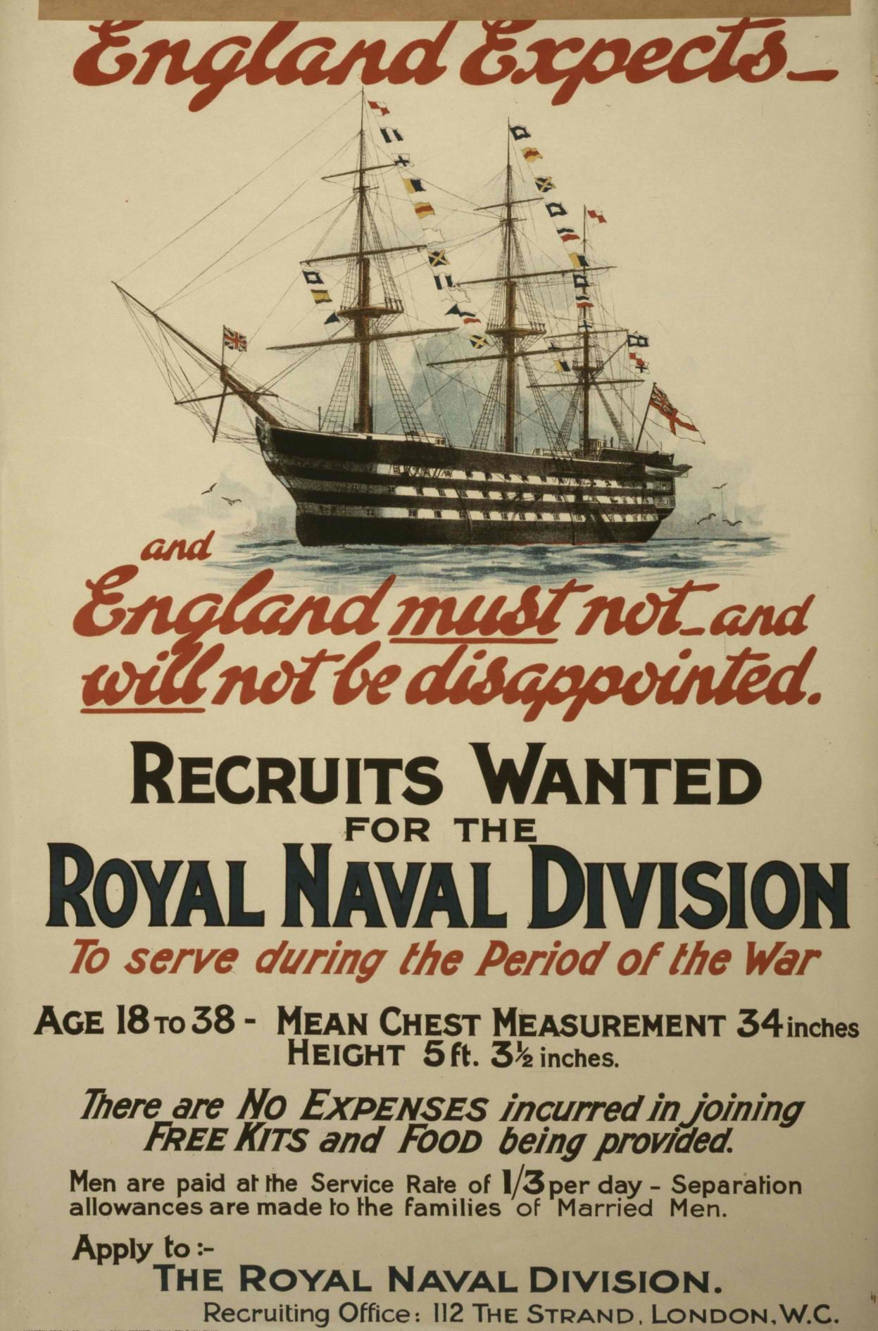 Recruiting Poster Royal Navy Recruitment Poster War