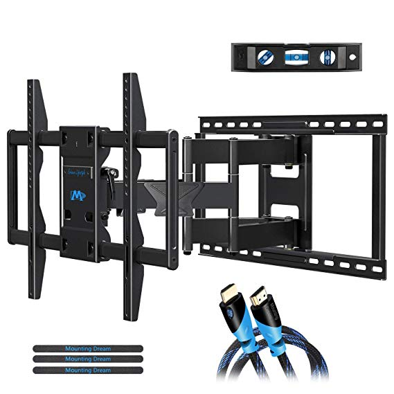 Amazon Com Mounting Dream Tv Wall Mounts Tv Bracket For Most 32 55 Inch Flat Screen Tv Mount With Images Full Motion Tv Wall Mount Wall Mounted Tv Tv Wall Mount Bracket