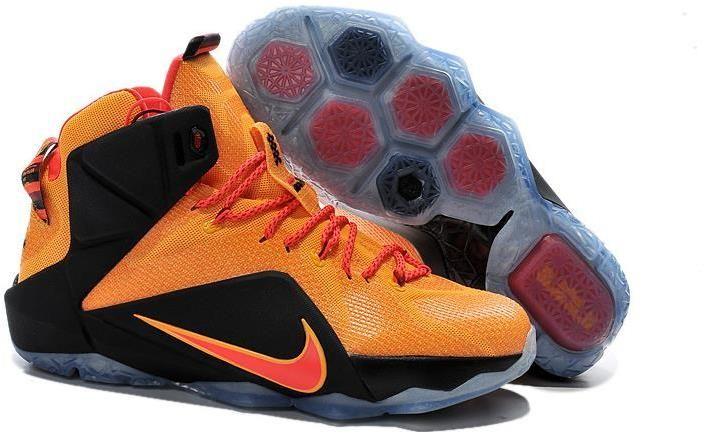Nike Lebron 12 Orange Black Red Basketball Shoe  1fea1939fd