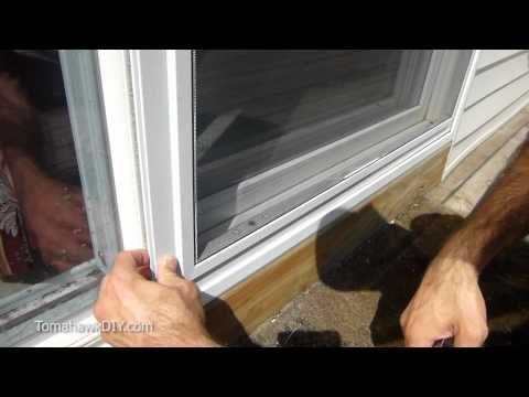 Easy Way To Fix Screen Door That Won T Slide Youtube Tomahawkdiy Com Glass Door Repair Screen Door Sliding Glass Door