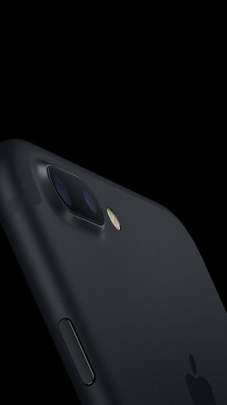 As85 Jet Black Iphone7 Dark Minimal Apple Art Illustration Black Hd Wallpaper Iphone Iphone 7 Iphone
