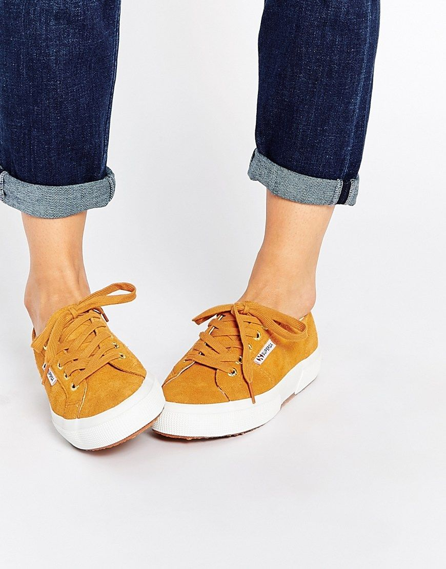 Image 1 of Superga Tan Suede Plimsoll Trainers