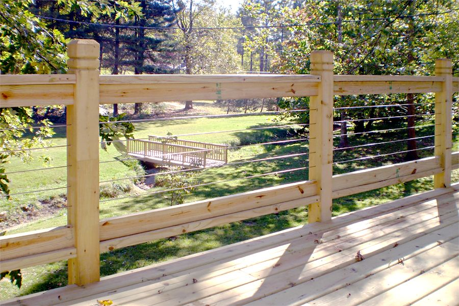 Stainless Steel Cable Railing Code Design Rustic Deck Deck