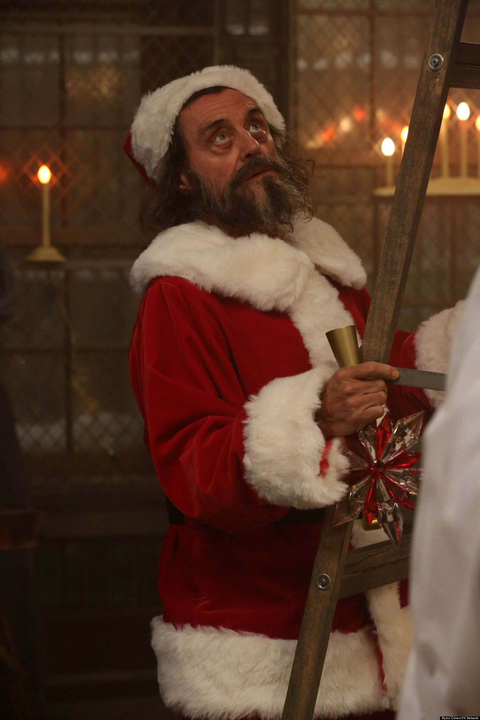 FIRST LOOK Ian McShane Plays One Scary Santa On 'American