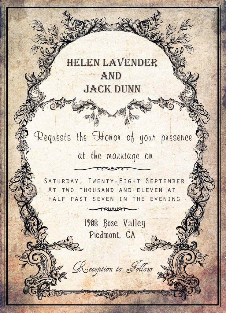 Vintage Invitation Template Easy