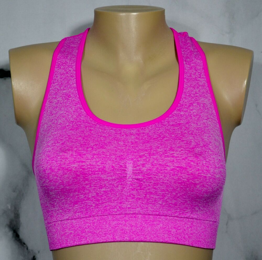 PROFIT Hot Pink White Heathered Seamless Racerback Sports