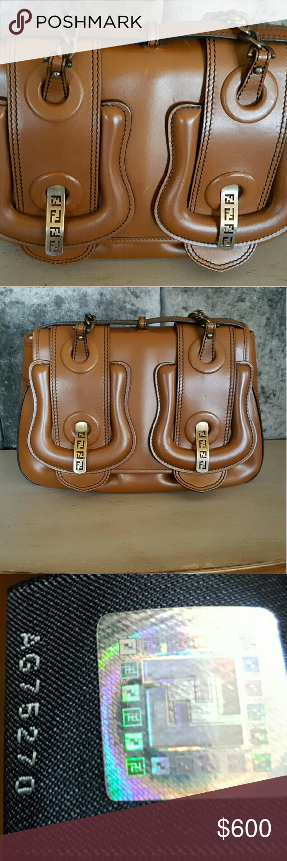 29cc3f059a29 AUTHENTIC IN NEW CONDITION BAG FENDI BAG WITH BIG BUCKLES THAT HAVE  ENGRAVED FENDI BRASS HARDWARE