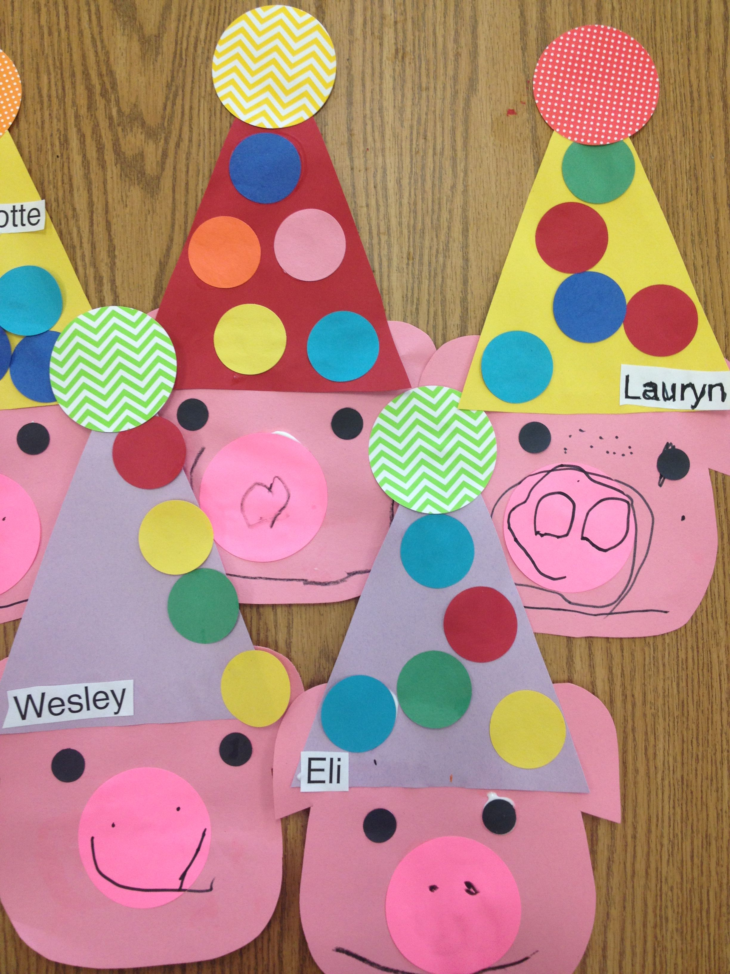 If You Give A Pig A Party Laura Numeroff Preschool Crafts