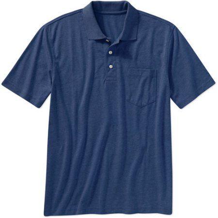 George Big Men's Short Sleeve Polo, Size: 3XL, Blue