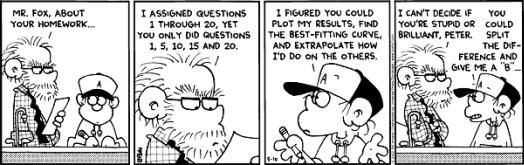 Foxtrot Math Cartoon Math Comics Math Geek