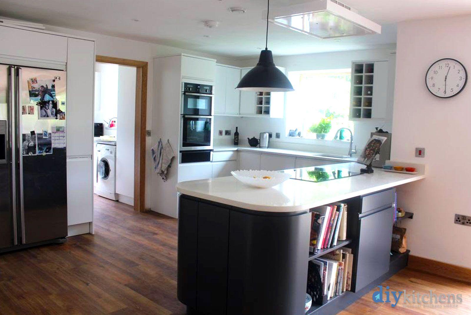 Best An Innova Luca Matt White Carbon Handleless Kitchen In 400 x 300