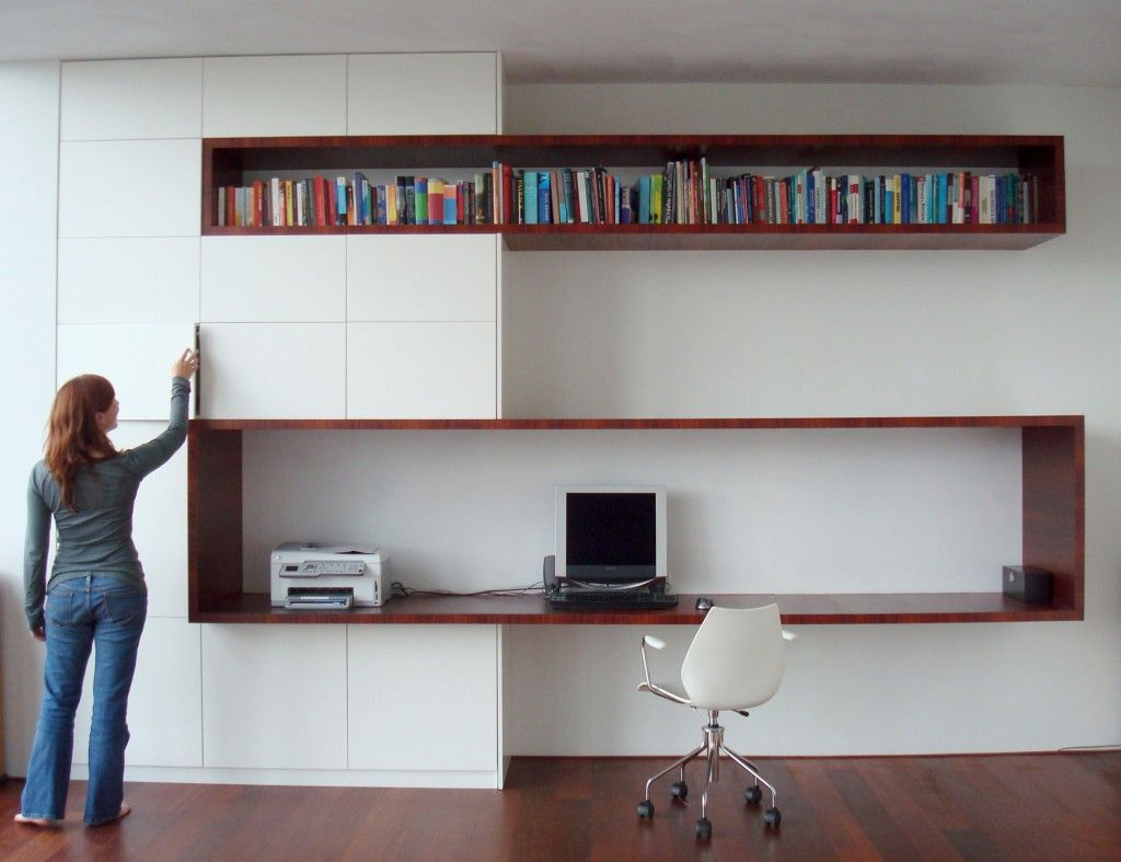 Kastontwerp - loft Amsterdam - Studio EI - computermeubel woonkamer ...