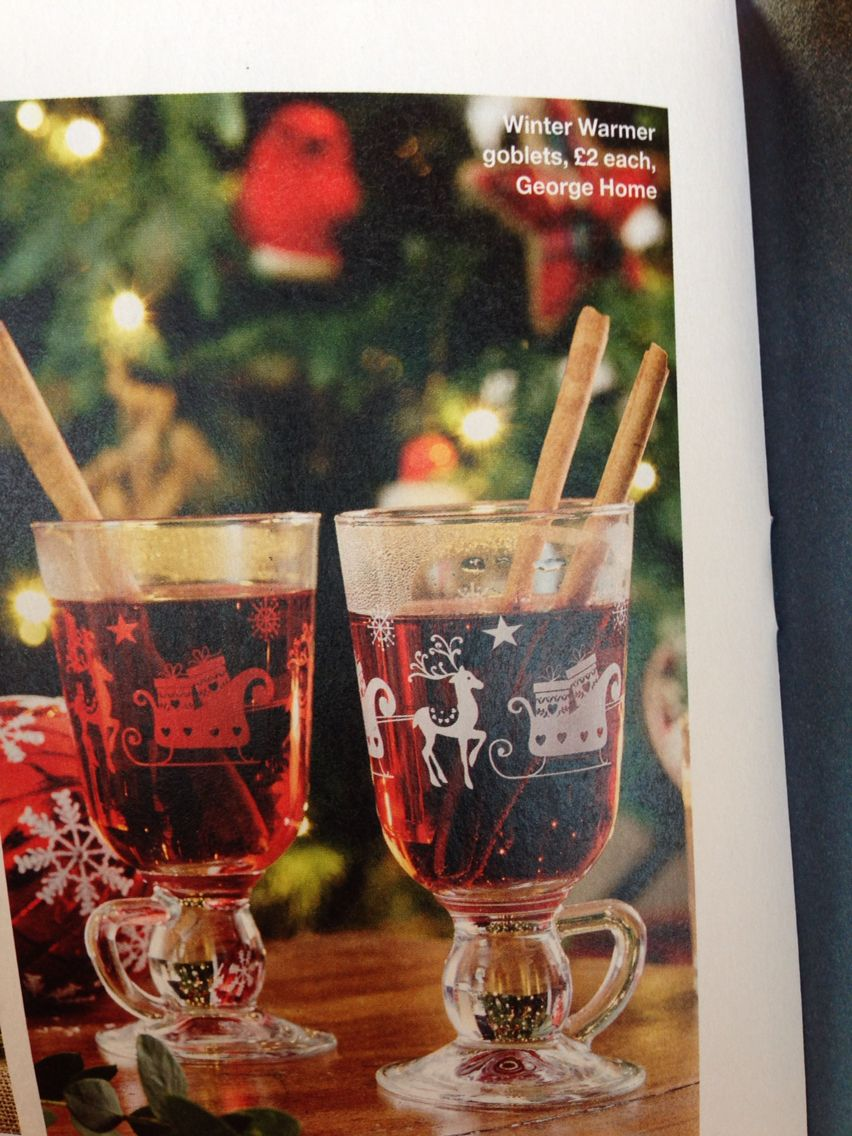 Winter Warmer Goblets 2 George Asda Winter Warmers Alcoholic Drinks Warmers