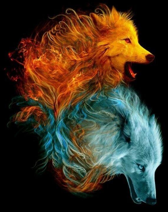 Fire & ice | Konstnärer, Djur, Fantasy