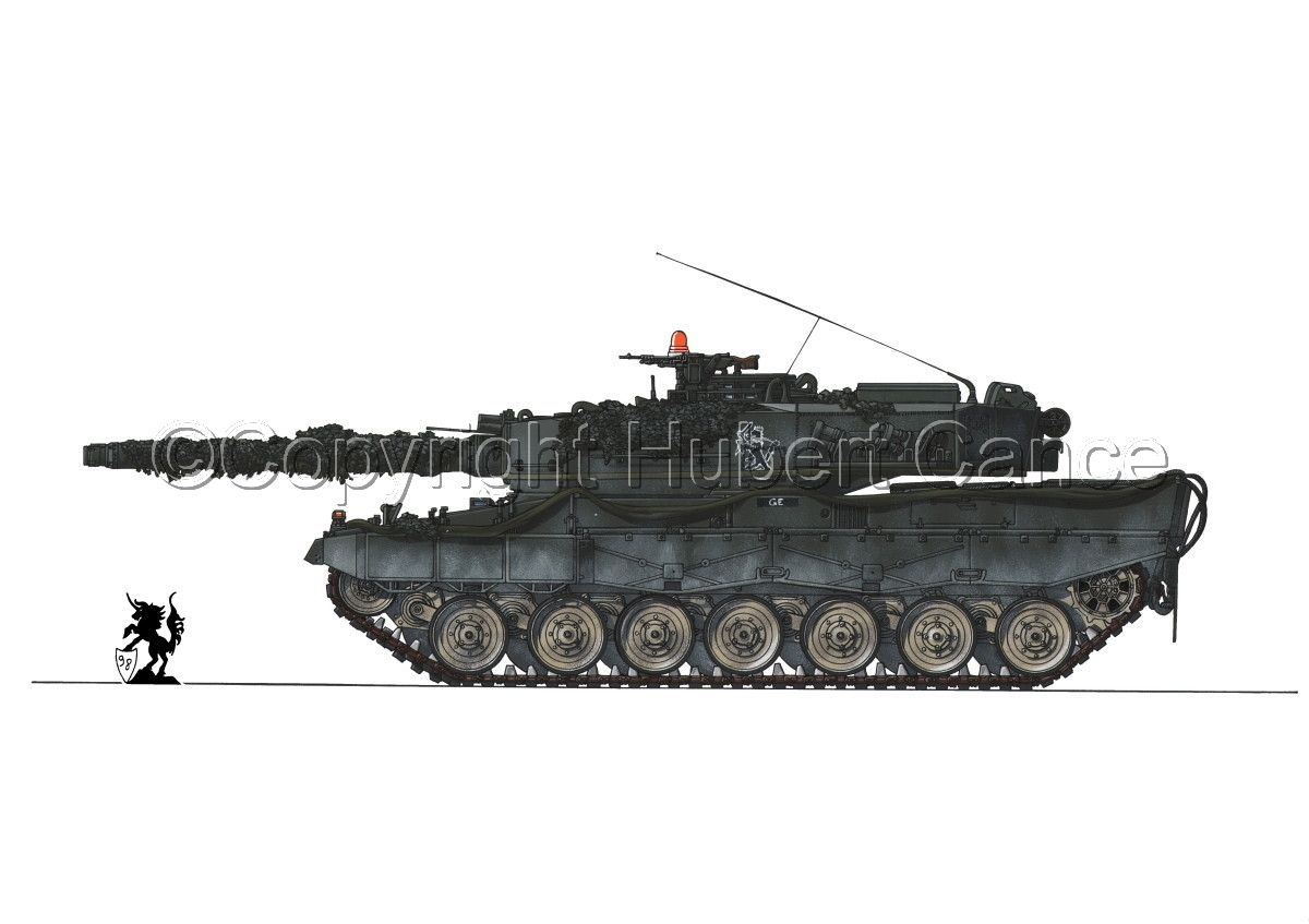 Contemporary Painting Military Vehicles Leopard Contemporary Wars