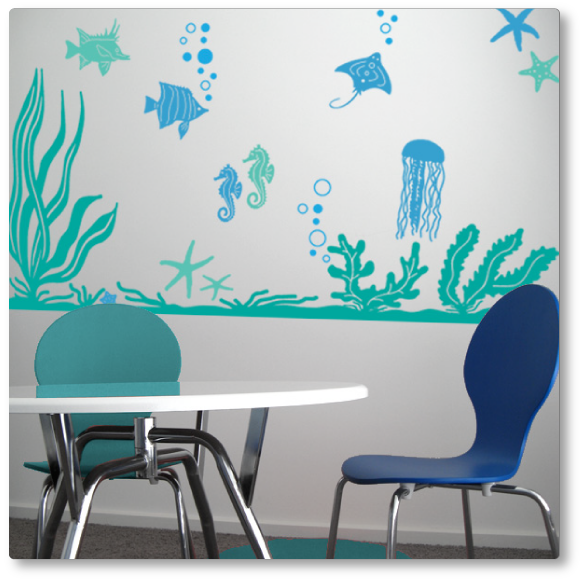 Wall Decal Under Water World Wall Decal Works Nicely With A - Underwater wall decals