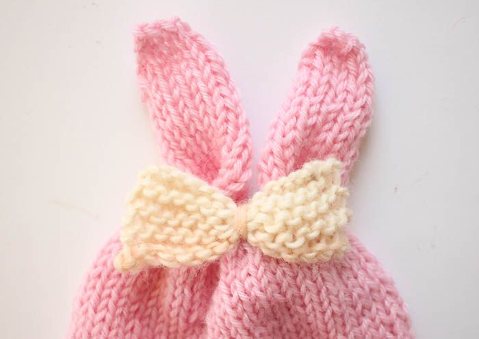Baby Girl Bunny Ear Hat Free Knitting Pattern | knitting | Pinterest ...