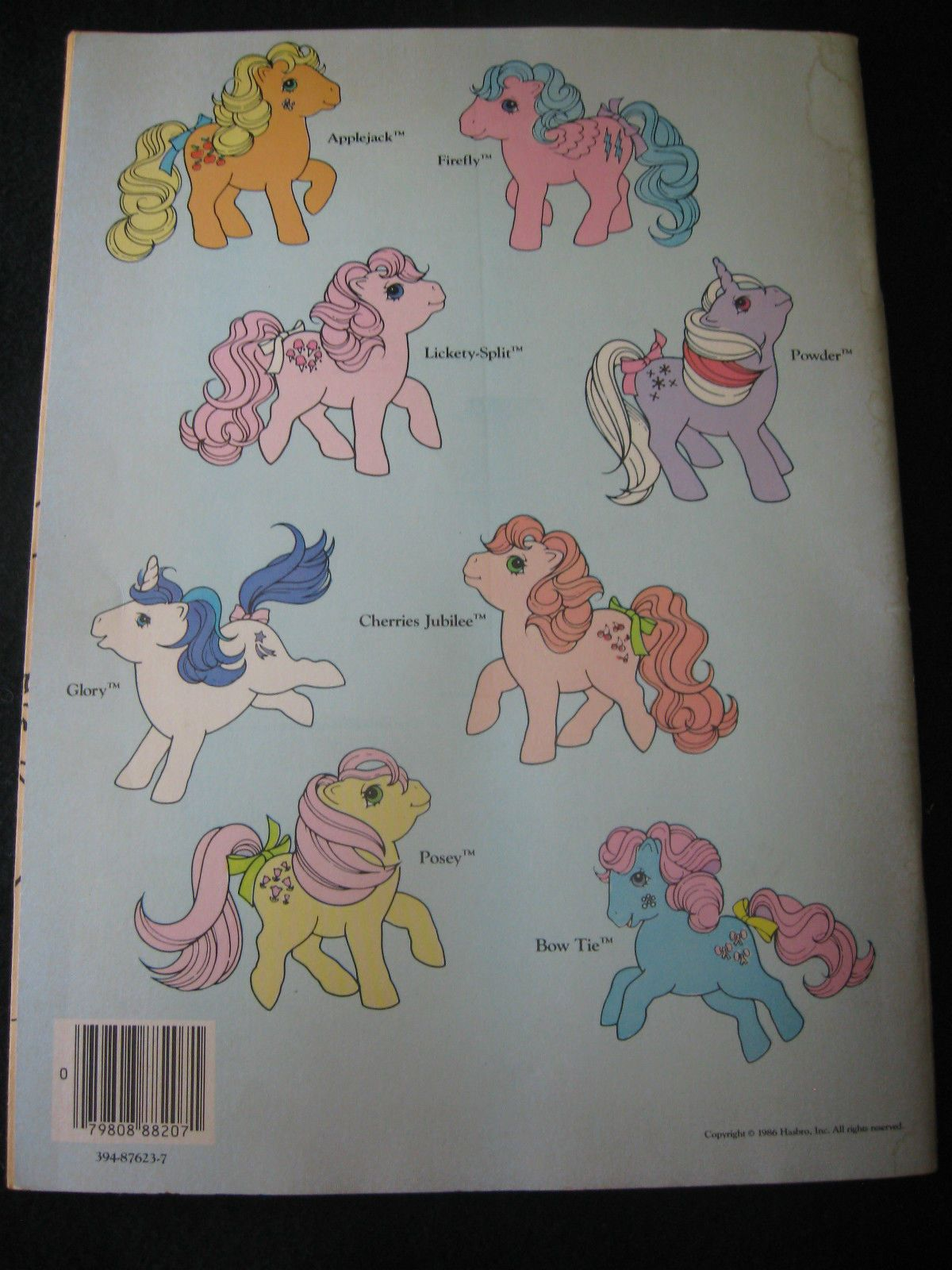 Vintage My Little Pony Abc A First Coloring Book 1986 My