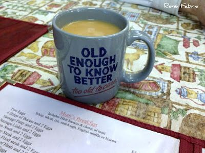 Having Coffee With My Friend Dave At Mom S Kitchen In Kent Ya Think Mom S Trying To Tell Me Something To Tell Tell Me Mom