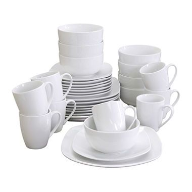 Gibson Elite Pippa Dinnerware Set - White Porcelain - 32 pc.  sc 1 st  Pinterest & Gibson Elite Pippa Dinnerware Set - White Porcelain - 32 pc ...