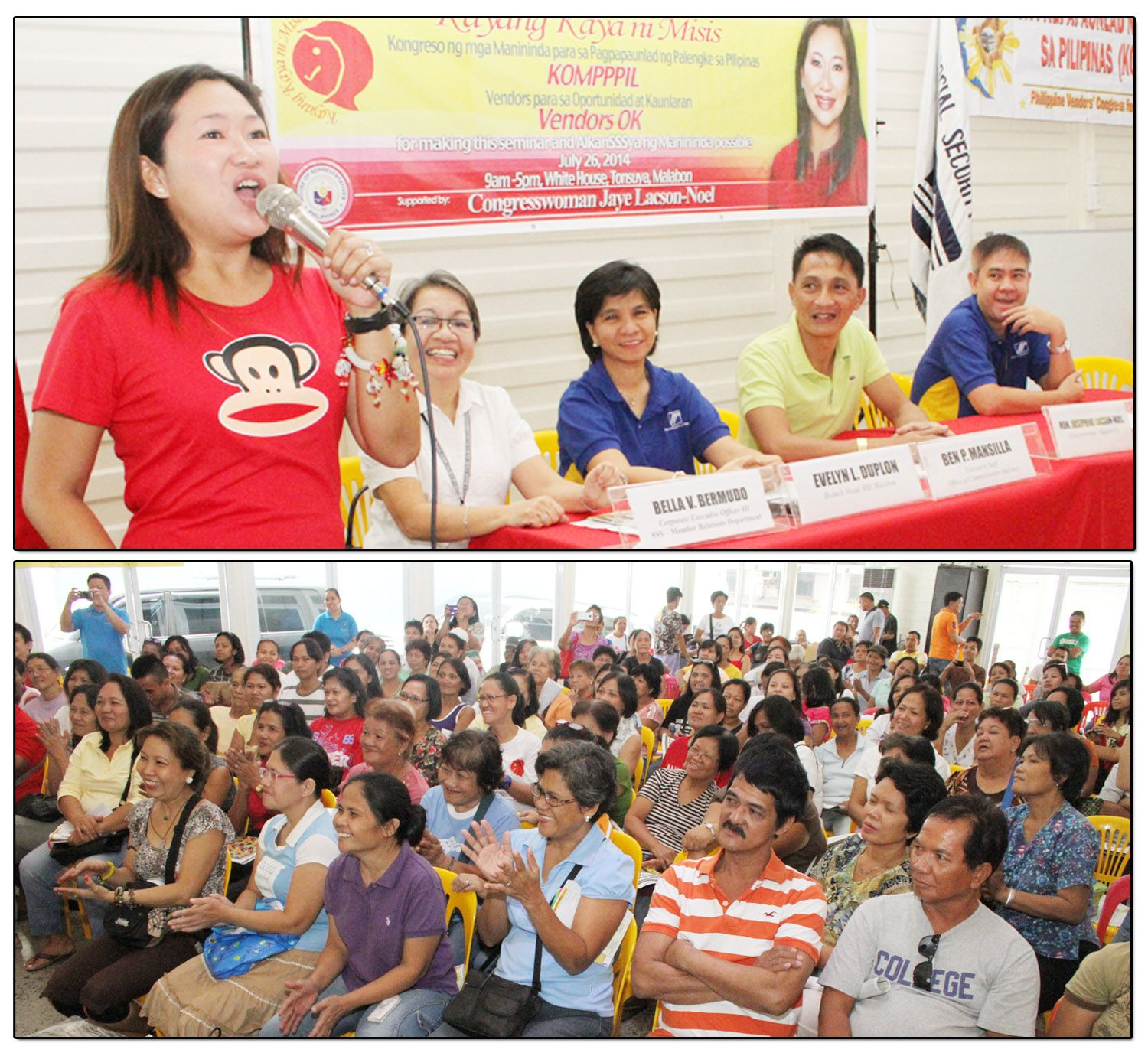 SSS conducts Information Seminar in Malabon  More than 150 members (bottom photo) of the Social Security System (SSS) attended the Information Seminar conducted at White House in Malabon City last July 26, 2014.
