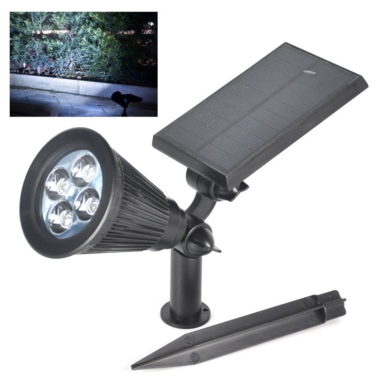 New waterproof 4led solar powered led street light solar spot light new waterproof 4led solar powered led street light solar spot light operated lighting outdoor path mozeypictures Image collections