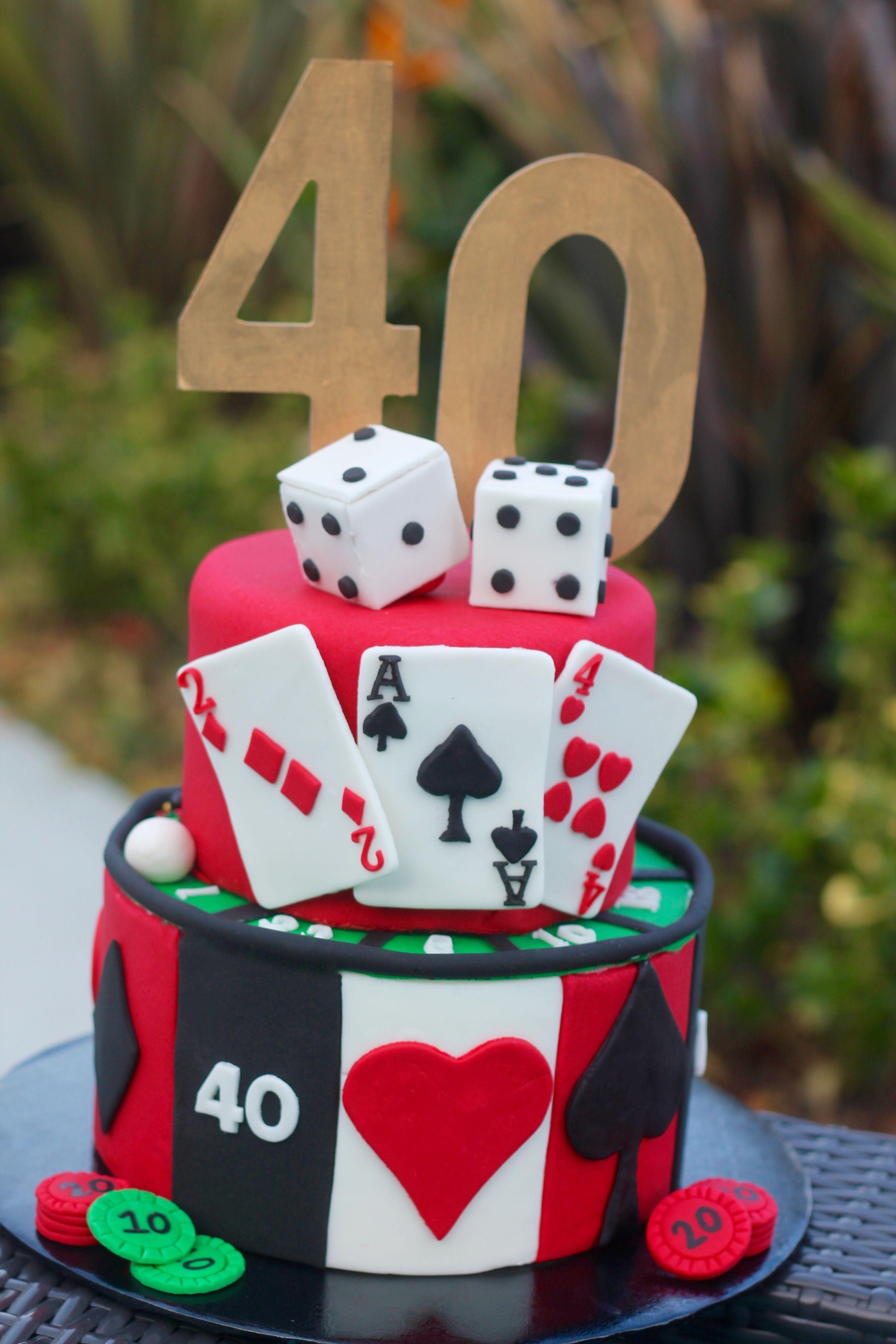 40th birthday casino cake i 2020 kage