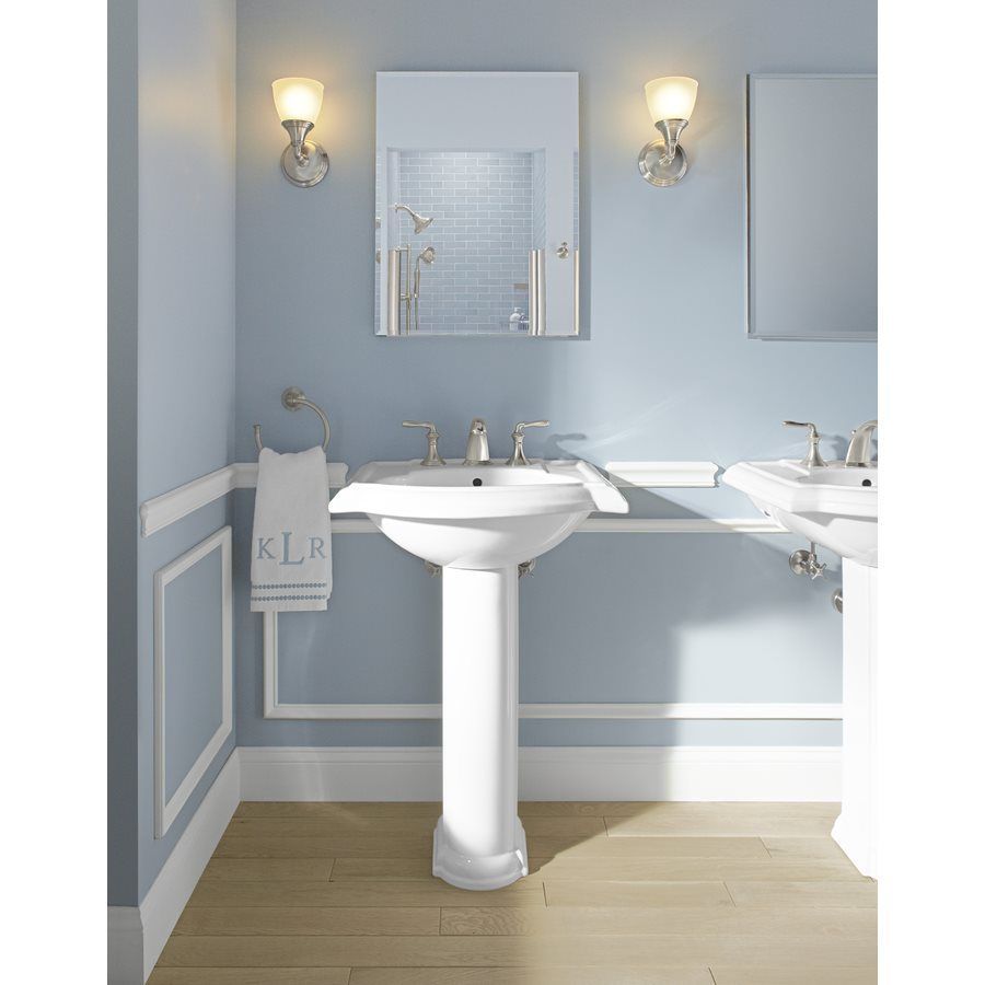 Kohler 2288 Devonshire 26 5 In H White Vitreous China Pedestal Sink Base Kohler Devonshire Pedestal Sink Sink
